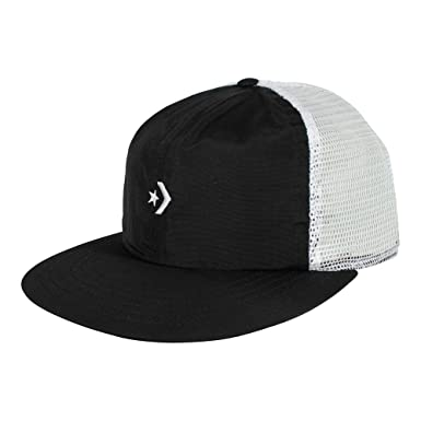 f1aa40d3b37dc Converse Unisex Cap Star Chevron Trucker Flat Black  Amazon.co.uk  Clothing