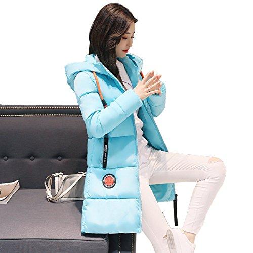 Piumino Outwear F Corea Tratto Cotone Nihiug Lungo Inverno Sveglio Studente Piumino Della Cappotto qEzw101x57