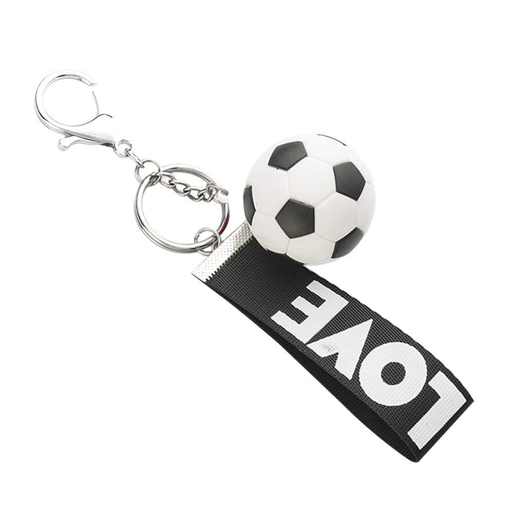 Skareop Llavero con forma de balón de fútbol para llavero de ...