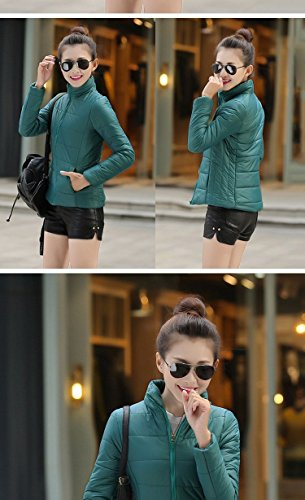 Section New Dark M Collar Thin Down 2XL Collar Ladies Casual Jacket Purple green Short Hot Ultra Jacket 8qdT8A