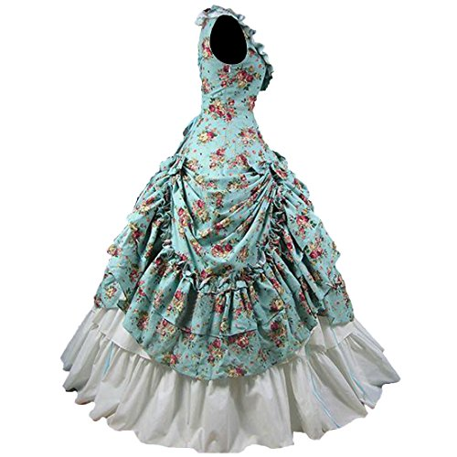 Frauen Damen Als Partiss Theater Kleid Vintag Bild Party Viktorianisch Ballkleid OpxnCC5wqZ