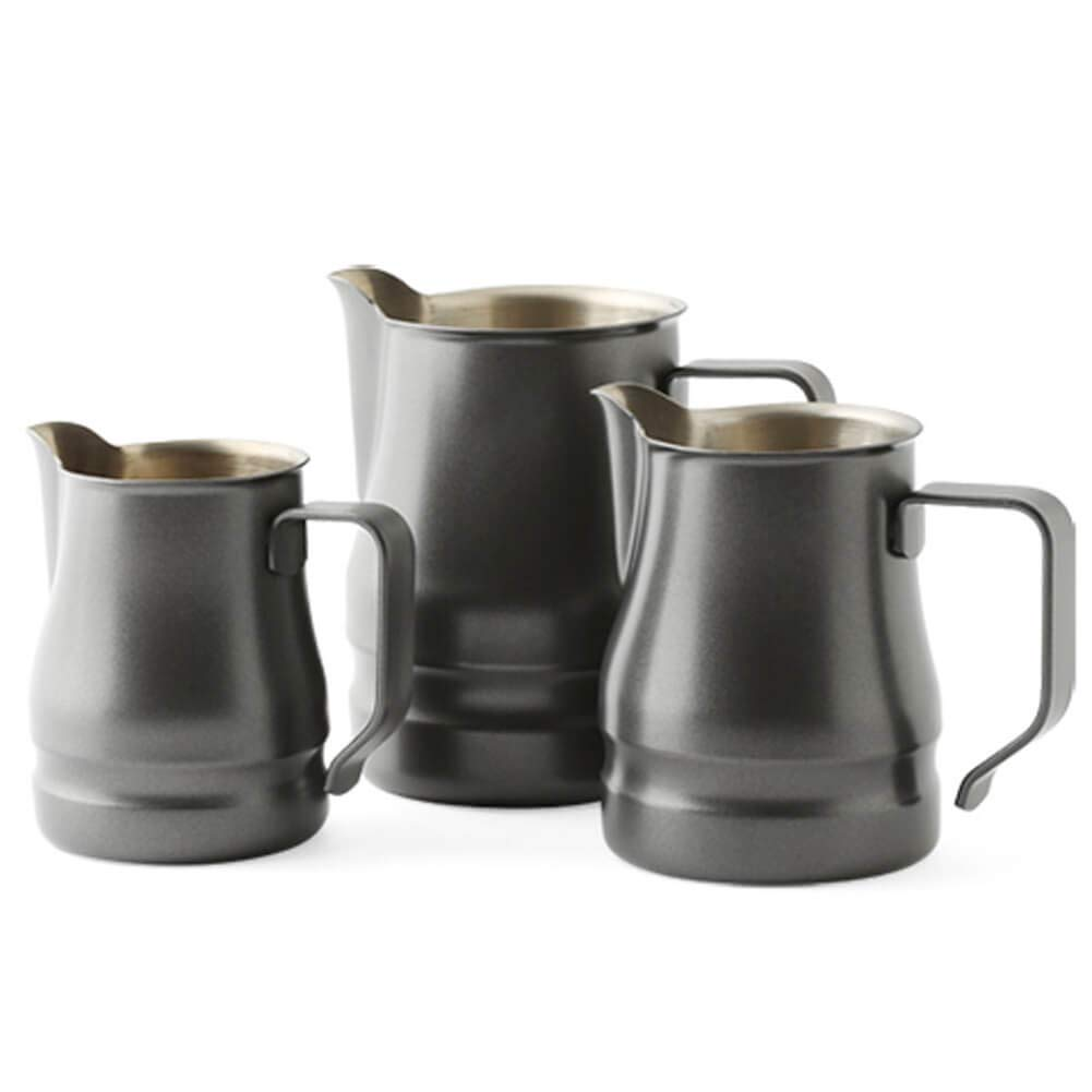 Ilsa Evolution Milk Frothing Pitcher Professional Latte Art Milk Steaming Jug Stainless Steel, Grey - 350ml / 12oz by Ilsa (Image #4)
