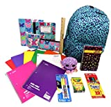 Elementary School Backpack 25 Pieces Fashion Notebooks and Supplies Girls Ty Plush Locker Buddy S-