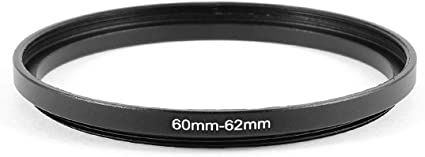 uxcell Camera Lens Filter Step Up Ring 52mm-62mm Adapter