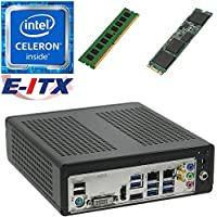 E-ITX ITX350 Asrock H270M-ITX-AC Intel Celeron G3930 (Kaby Lake) Mini-ITX System , 4GB DDR4, 480GB M.2 SSD, WiFi, Bluetooth, Pre-Assembled and Tested by E-ITX