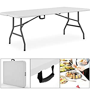 Der Tisch Ist Sehr Praktisch, Da Man Ihn Recht Klein Wie Einen Koffer  Zusammenfalten Kann. Er Ist Weiß, Was Sich Jedoch Auf Den Bildern Nicht  Erkennen Lässt ...