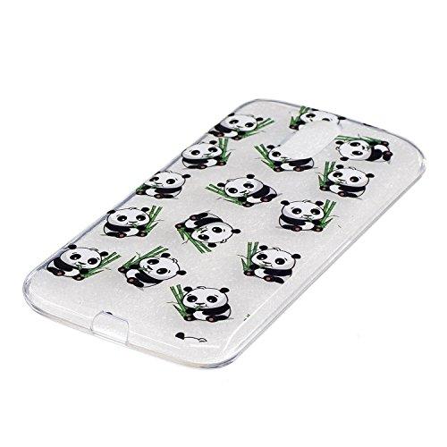 Ecoway Motorola Moto G4 / G4 Plus TPU Funda , Altamente Transparente Antideslizante Suave Resistente a Los arañazos TPU Contraportada Funda de Carcasa Funda Bumper Para Motorola Moto G4 / G4 Plus - Ga panda