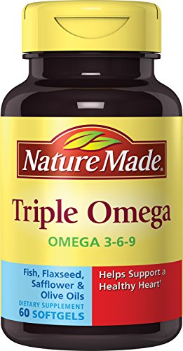 Nature Made Triple Omega 3-6-9, 60 Softgels (Pack of 3)