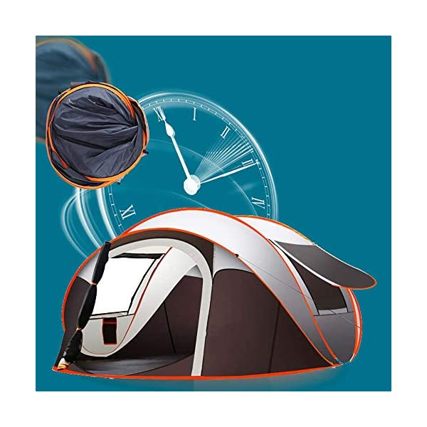 Camping Automatic Pop Up Tent 5-8 Person Portable Folding Outdoor Quick-Opening Beach Tents 100% waterproof Anti UV for Easy to Set up Size(280 * 200 * 120cm)