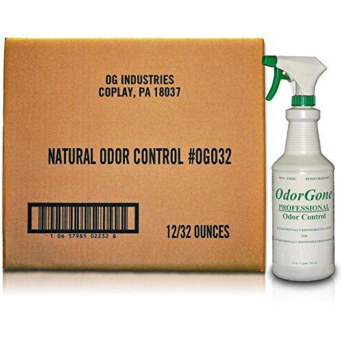 OdorGone® Professional Odor Neutralizer 32 ounce 12 Case with Trigger Sprayers by OdorGone®
