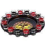 BLACK MAMUT Ruleta Tipo Casino Juego de Tragos Shots Incluye 16 Vasos Ideal para Fiestas Bar