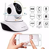 Eyuvaa IP01A WiFi Wireless HD IP Security Camera CCTV Cameras For Indoor Outdoor Use | Wifi Stream Live Video in Mobile or Laptop | 4x Digital Zoom | 2 Way Chat (supports upto 128 GB SD card) [Dual Antenna]