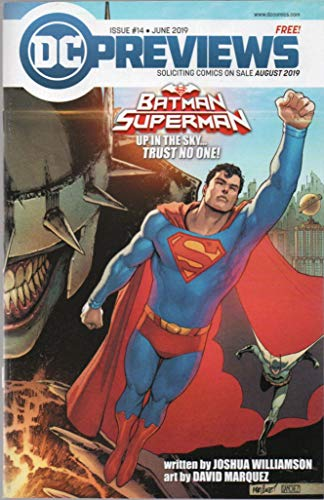DC Previews, no. 14 (June 2019) (covers: Batman/Superman Up in the Sky.../In the Dark of Night...: Trust No One!); Black Canary, Super Sons, Titans: Burning Rage, Batman Who Laughs, Wildcats, etc. -