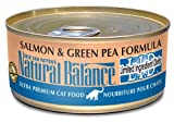 Natural Balance Green Pea and Salmon Formula Cat Food (Pack of 24 6-Ounce Cans), My Pet Supplies