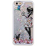 iPhone 5S Case, Little Sky (TM) [Slim Fit] Butterfly Flower Beautiful [Faery Angel Girls] Printing Flowing Liquid Floating Bling Glitter Sparkle Stars Hard Case for Apple iPhone 5S / iPhone 5 , Faery #2