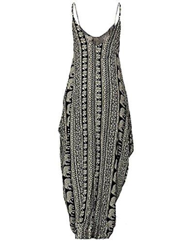 Cou Détendu V Féminin Coolred Floral Maxi D'impression Longue Robe Comme Image