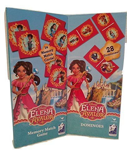 Kids Playtime Toddler Fun – Domino & Memory Match Game Puzzle 2 Piece SET Elena Avalor