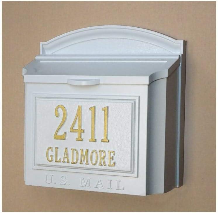 Checked Custom Wall Mount Mailbox