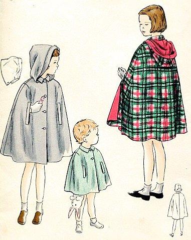 Amazon.com: Vogue Pattern 2592 Childs Cape and Detachable Hood ...