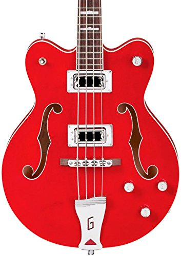 Gretsch G5442BDC Electromatic Hollow Body Short Scale Bass Guitar - Transparent Red (Hollow Electromatic Guitar Body)