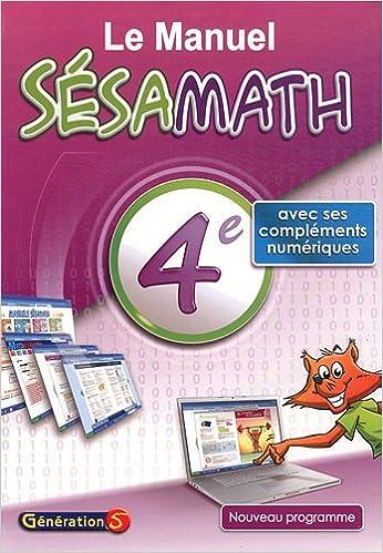 Livre gratuits en ligne Le Manuel Sésamath 4e epub, pdf