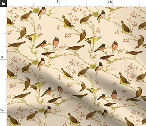 Australia Fabric - Birds Nursery Botanical Floral