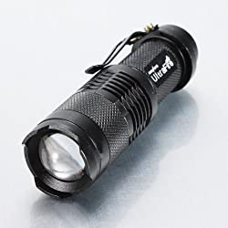 High Quality Ultrafire Mini Cree Q5 Led Flashlight Torch Zoomable 3 Mode from MECO