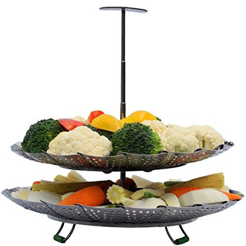 UNIQUE 2-TIER Vegetable Basket HANDLE - Pot Pressure 6 & - 100% Instapot -Use Rack
