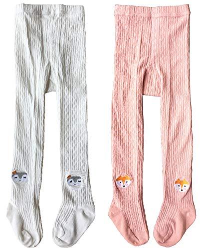 QandSweet Toddler Girls Tights Knit Cotton Pantyhose Dance Leggings Pants Stockings Animal Head 1-2T by QandSweet (Image #6)