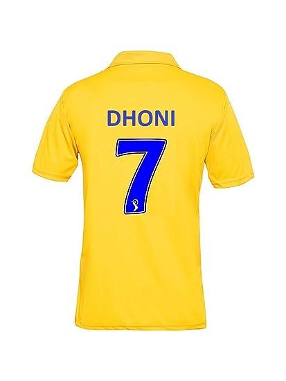 7a2bef3b GOLDEN FASHION CHENNAI Super Kings IPL Cricket Jersey 2019 with DHONI 7  Print (Yellow,