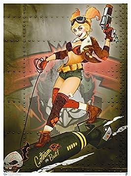 QMx DC Bombshells Harley Quinn Gotham or Bust Art Print
