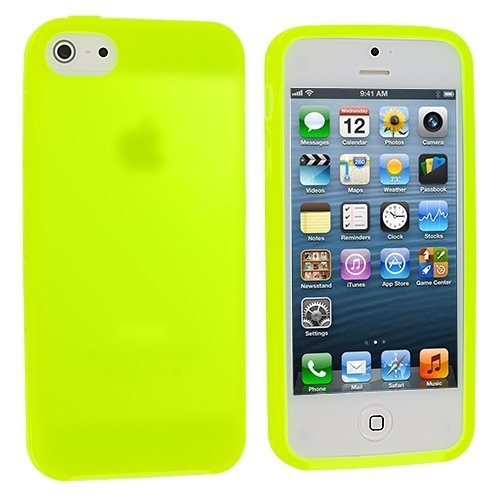 Neon Green Silicone Rubber Gel Soft Skin Case Cover for Apple iPhone 5 5G 5th