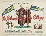 Mr. Belvedere Goes to College Poster Movie Half Sheet 22 x 28 Inches - 56cm x 72cm Clifton Webb Shirley Temple Tom Drake Alan Young Jessie Royce Landis
