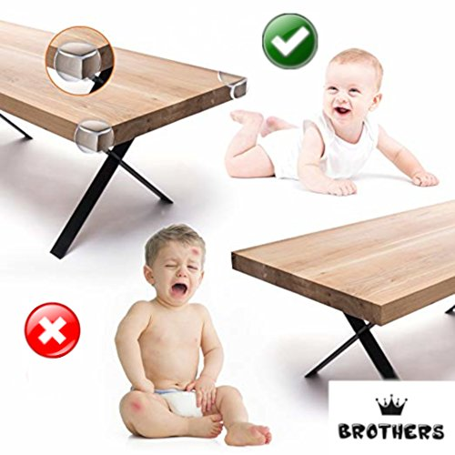 Corner Protector - Keep Babies from Sharp Edge of Table, Furniture and Desk - Best Baby Safety Corner Guards from Injuries - High Resistant Adhesive (20 Pack) by BROTHERS (Image #1)