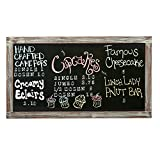 vertical memo board - MyGift 35-Inch Wall-Mounted Chalkboard, Vertical / Horizontal Hanging Torched Wood Frame Message Board