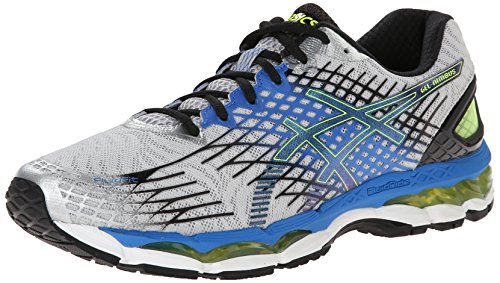 ASICS Men's Gel-Nimbus 17 Running Shoe,Lightning/Black/Flash Yellow,12 M US
