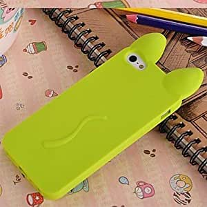diy case New 3D Cat Ears Silicone Soft Case for iphone 5s Green