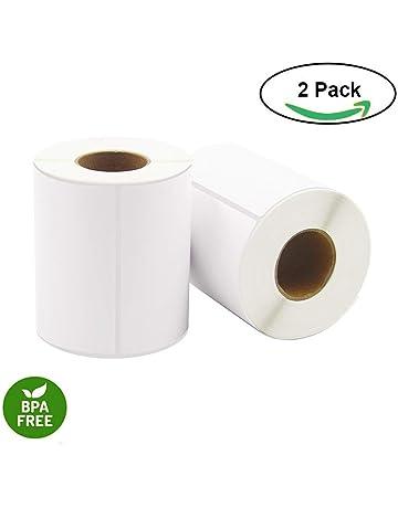 Etiquetas térmicas directas, 10cm x 15 cm, 250 etiquetas por rollo, 2 rollos