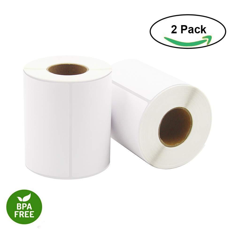 4 x 6 Direct Thermal Labels 250 Labels Per Roll 2 Rolls Per Carton 100MM x 150MM Blank Shipping Labels Hapaper