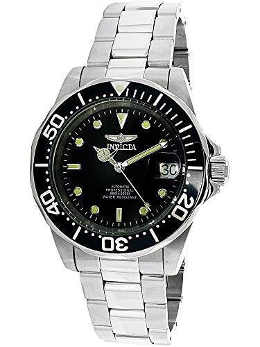 Invicta Men's 8926 Pro Diver Collection Automatic Watch, Silver-Tone/Black Dial/Half Open Back ()