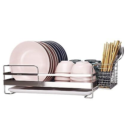 Estante de Cocina - Estante de Drenaje de Platos, Caja de Almacenamiento de múltiples Funciones