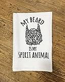 Funny Dishcloth/Tea Towel ~ My Beard is My Spirit Animal ~ Funny Kitchen Cloth
