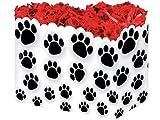 """1 Large PAW Prints Animal Dog Puppy Gift Basket Box 10-1/4 X 6 X 7-1/2"""""""