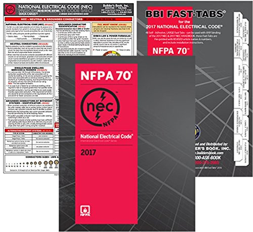 NFPA 70 2017: National Electrical Code (NEC), Paperback (Softbound), Fast Tabs and NEC Quick Card, Set, 2017 Editions by NFPA-BB