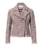 cupcakes and cashmere Women's Canter Tweed Moto Jacket, Multi Color