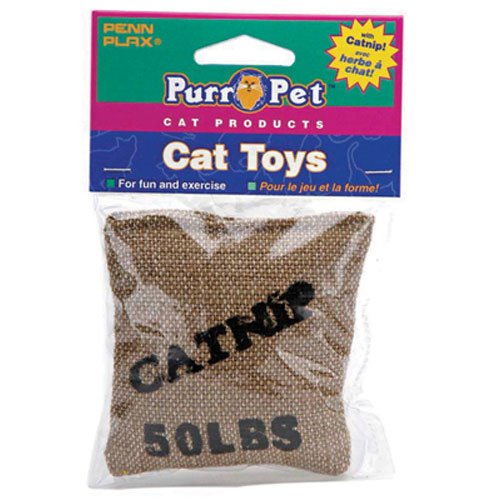 Penn Plax CAT532 Catnip Burlap Bag Catnip Toy