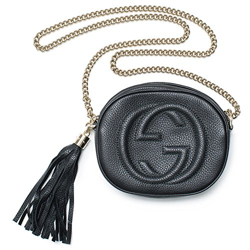 Gucci Hibiscus Red Navy White Handbag Soho leather mini chain bag New