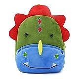 Cute Small Toddler Kids Backpack Plush Animal Cartoon Mini Children Bag for Baby Girl Boy Age 1-3 Years - Dinosaur