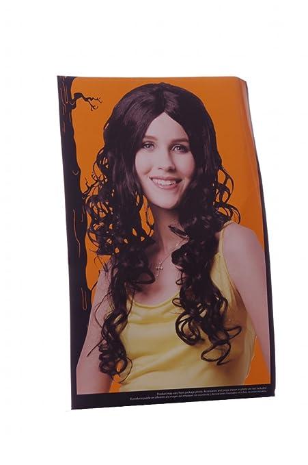Long Black Wig - Peluca Larga Negra