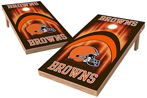 PROLINE NFL Cleveland Browns 2'x4' Cornhole Board Set - Arch ()